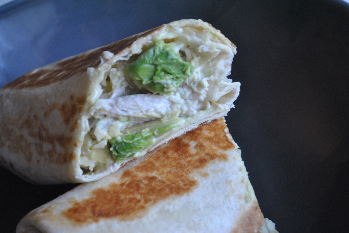 toasted avocado chicken wraps recipe - 1