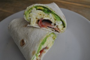Bacon, Egg and Avocado Breakfast Wrap recipe - 1