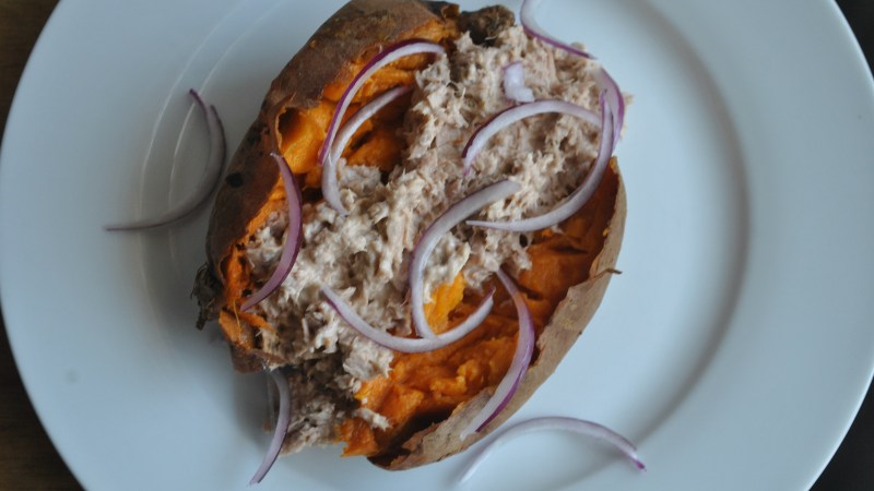 Quick microwave Sweet Jacket Potato recipe - 3