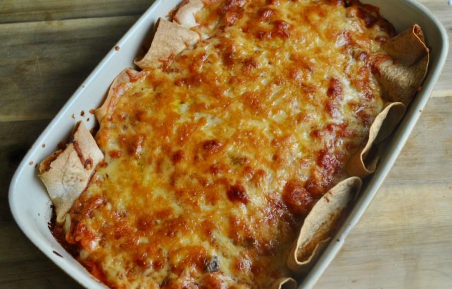 Vegetarian Cheese and Bean Enchiladas recipe - 3
