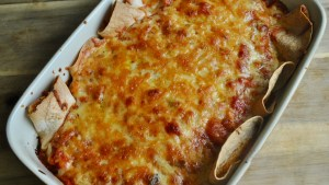 Vegetarian Cheese and Bean Enchiladas recipe - 3