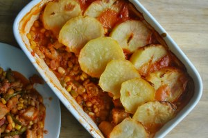 sausage and bean hotpot recipe - 1