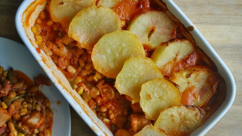 sausage and bean hotpot recipe - 1