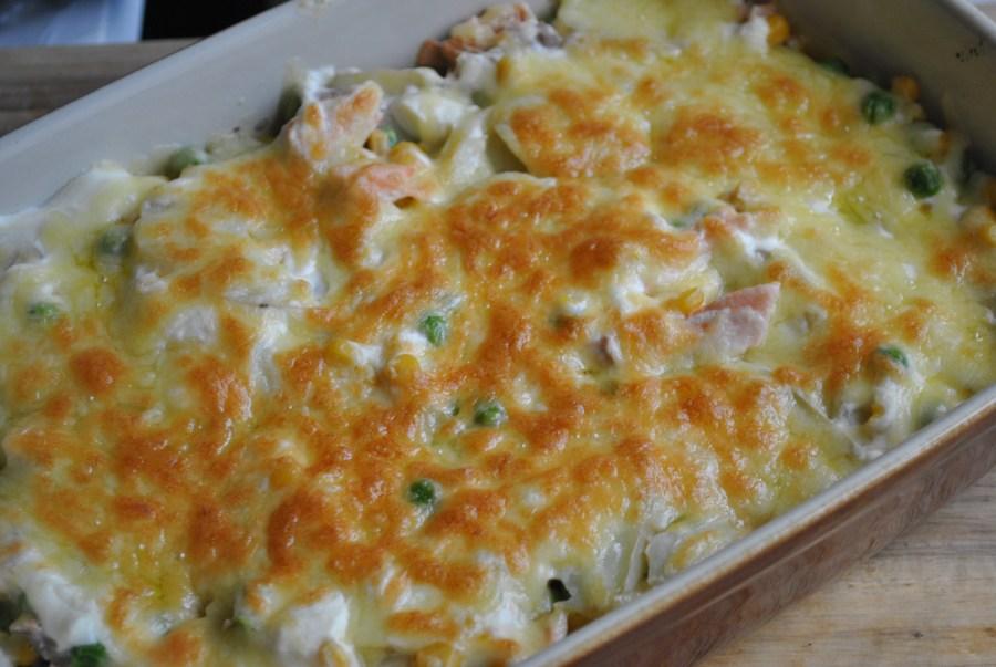 salmon potato cheese gratin recipe - 1