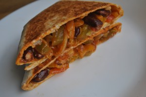 vegan vegetable bean toasted tortilla recipe - 3