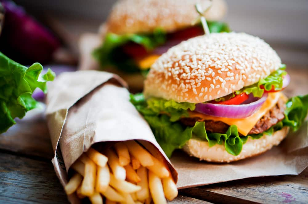 burger fries fast food