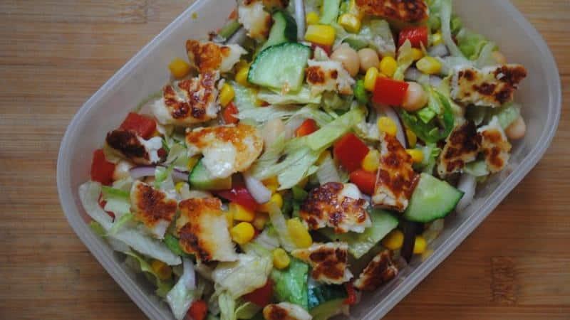 Tasty Halloumi Salad
