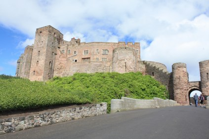 We approach the Bamburgh Castle