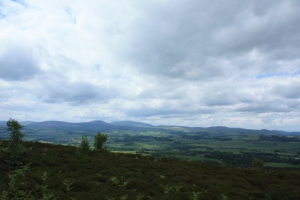 Looking over the Cheviot Hills and Northumbria National park