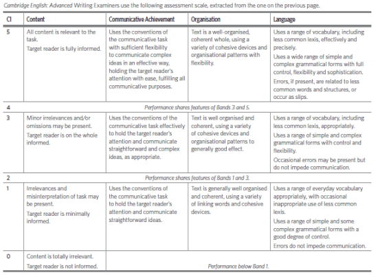 cae assessment scale