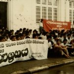 protest by medical students on Private medical college