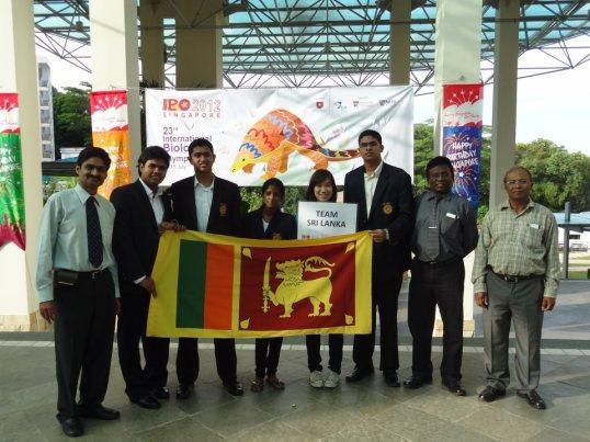 Biology Olympiad 2012 Sri Lanka Team