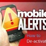 De-activate/ stop mobile SMS alerts on Mobitel Dialog Airtel Hutch Etisalat