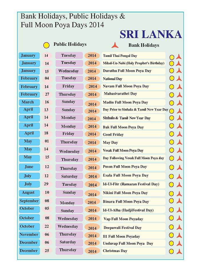 School Calendar 2018 In Sri Lanka : Download sri lanka public holidays full moon poya days