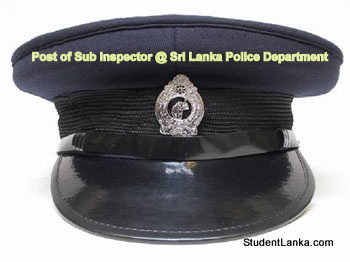 Post of Sub Inspector @ Sri Lanka Police Department