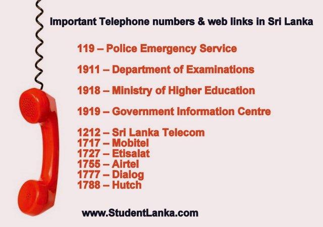 Lanka numbers sri search phone Sri Lanka