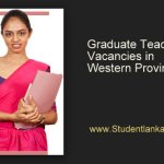 Graduate Teacher Vacancies in Western Province 2014