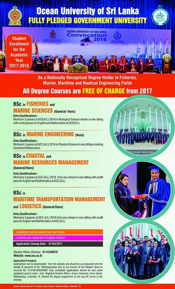 ocean university courses
