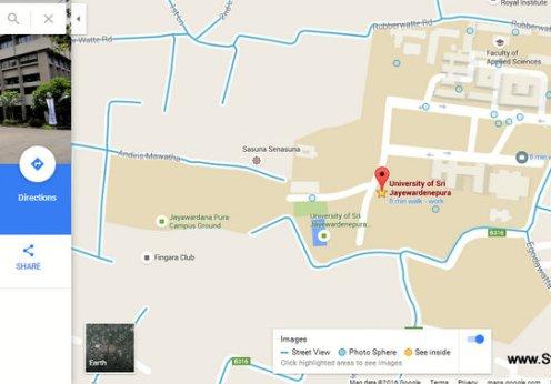 google stree view lanka japura campus