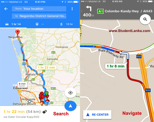Google maps voice navigation drive turn by turn in sri lanka goolge map navigation sri lanka search 1 gumiabroncs Choice Image