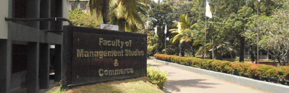 Faculty of Managment and commerce Jeyewardenepura University