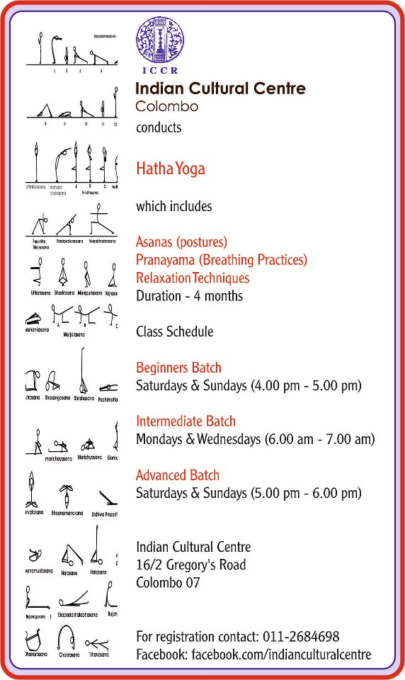 Yoga at Indian cultural center