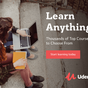 Udemy start learning today banner