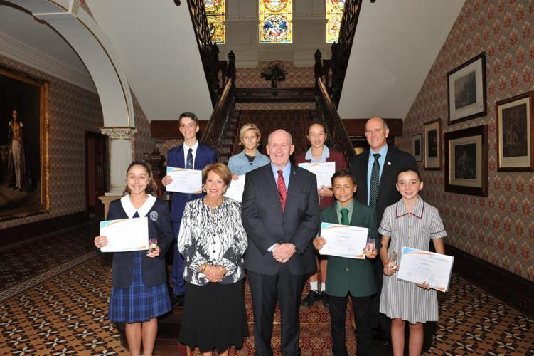 Students Awarded for Leadership by Governor General