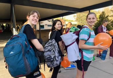 St Peters Lutheran College Students Complete Backpack Challenge