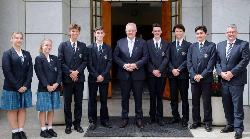 Bundaberg Christian College Student Leaders Meet Prime Minister