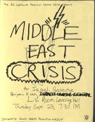 Jewish Students Association Poster for Speaker Event on Israel-Lebanon Conflict