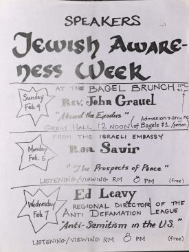 Poster of the Jewish Students Association Event 5