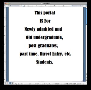 UNILAG Student portal