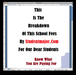 School Fee Breakdown