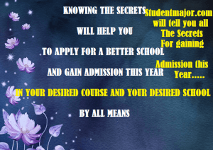 courses and requirements for admission