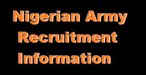 Image showing list of Nigerian Army Exam Dates, Exam Venues and Screening Centers