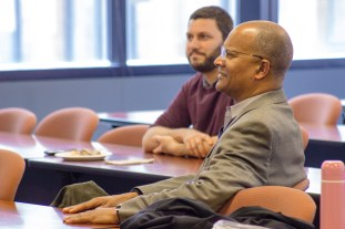 Professor Bartram Brown responds to the presentations at the The China Law Society lunch & learn session from three current LLM students on April 19, 2018