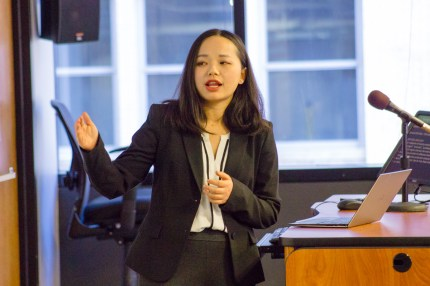 Siyuan (Suki) Qin was a featured speaker at this China Law Society lunch & learn session with presentations from three current LLM students on April 19, 2018