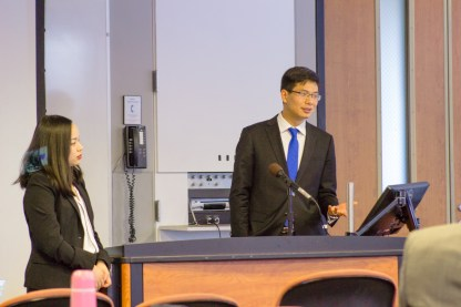 Siyuan (Suki) Qin and Yong (Chris) Zhang responded to questions at this lunch & learn event from The China Law Society on April 19, 2018