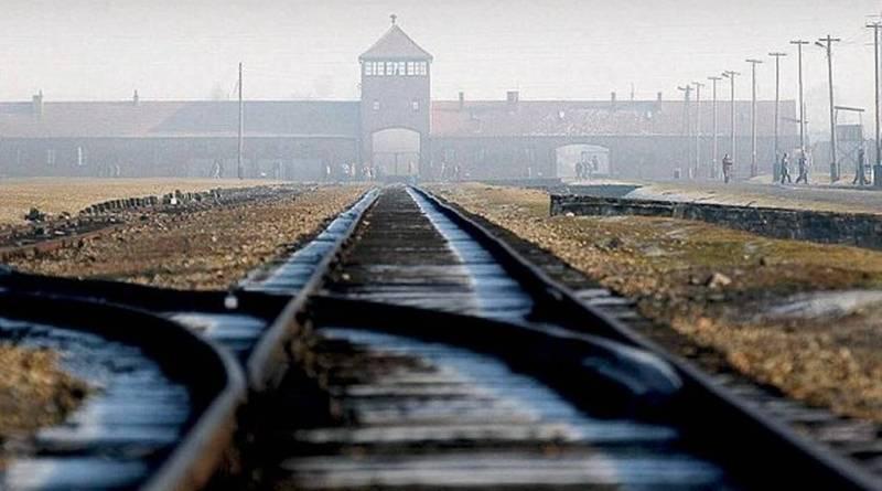 Концлагерь Освенцим, вид спереди