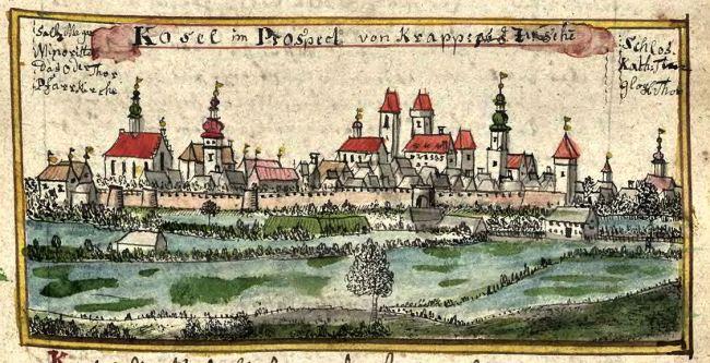 Кендзежин-Козле на старинной фреске