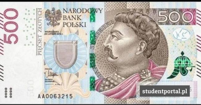 13. Купюра 500 злотых с портретом Яна Собеского