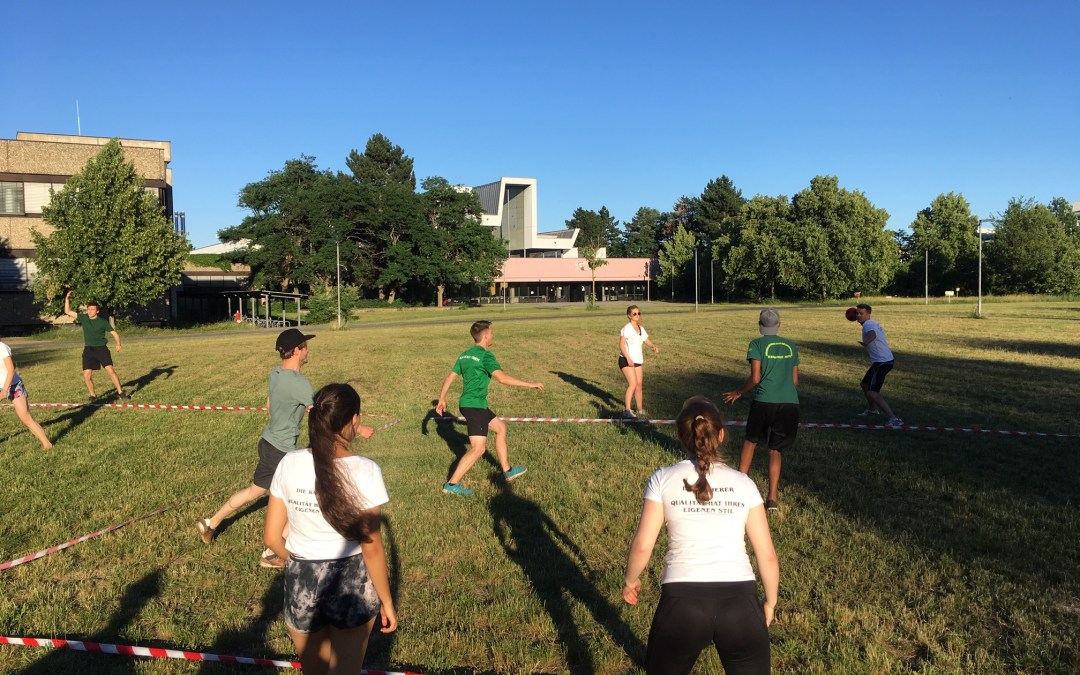 Impressions from the EAGLE students' participation in the 2019 Geo Summer Party's Dodgeball Competition
