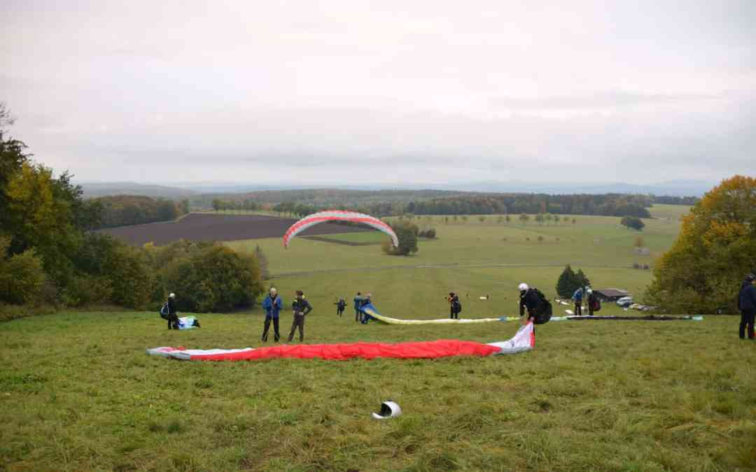 EAGLE students stretching their Wings –                  Paragliding Trial Course