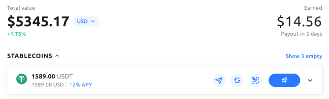 Crypto savings on YouHodler
