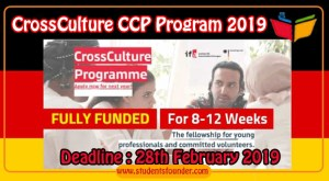CrossCulture CCP Program 2019 Germany [Fully Funded] CCP Focus