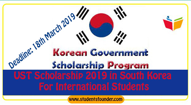 UST Scholarship 2019 in South Korea For International Students