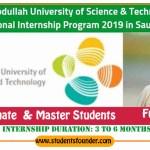 KAUST-VSRP-Internship-Program-2019