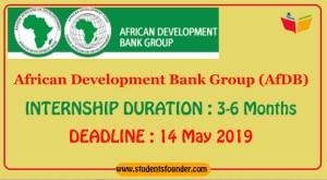 AFRICAN DEVELOPMENT BANK GROUP AFDB INTERNSHIP PROGRAM 2019 [PAID INTERNSHIP]