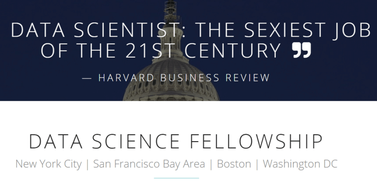 DATA SCIENCE FELLOWSHIP 2019 IN USA (FREE ADVANCED 8-WEEK FELLOWSHIP)